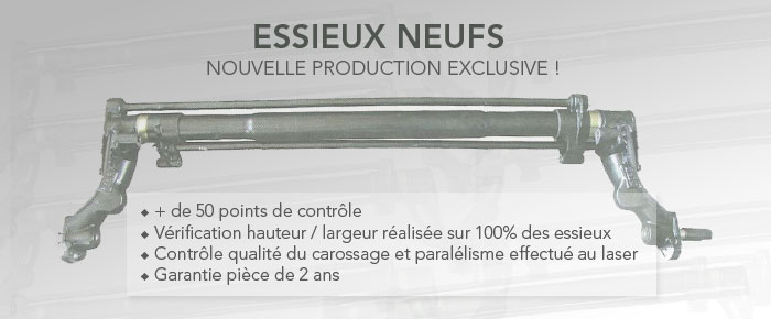 Essieux, trains arrières