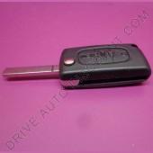 Coque de clé avec clé option coffre pour Citroen C3