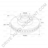 Jeu de disques de freins avant VALEO, Citroen Xsara 1.8 i 16V / 110cv de 07/97 à 08/00