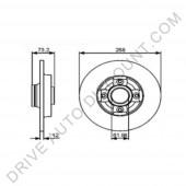 1 Disque de frein arrière, Citroen C4 Grand Picasso 1.6 HDI depuis 10/06