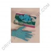Gants imperméables jetables Nitrile bleu haute qualité (caoutchouc synthétique) (100 unités)