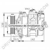 Compresseur de climatisation pour Audi A1 1.4 TFSi À part. 05/2010