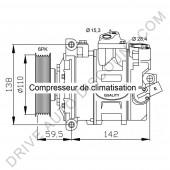 Compresseur de climatisation pour Audi A3 1.6 À part. 06/2003
