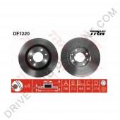 Jeu de disques de freins avant TRW, Citroen Xsara 1.8 i 16V / 110cv de 07/97 à 08/00