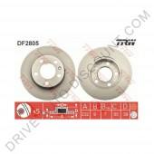Jeu de disques de freins arrière TRW, Audi A1 1.6 TDi / 90 - 105 - 115 cv après 05/10