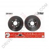 Jeu de disques de freins arrière TRW, Opel Astra H 2.0 Turbo / 170 - 200 cv de 03/04 à 10/10