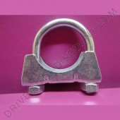 1 collier de tube d'échappement diamètre 38 mm