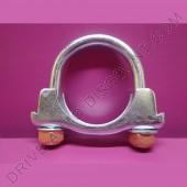 1 collier de tube d'échappement avec écrous autobloquants diamètre 54 mm