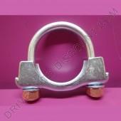 1 collier de tube d'échappement avec écrous autobloquants diamètre 57 mm