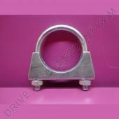 1 collier de tube d'échappement avec écrous autobloquants diamètre 67 mm