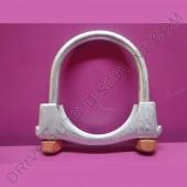 1 collier de tube d'échappement avec écrous autobloquants diamètre 69 mm