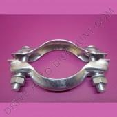 1 collier bicone pour collecteur d'échappement diamètre 72 mm