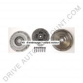 Kit d'embrayage 3 pièces avec volant moteur rigide sans butée Ford Galaxy 1.9 TDI 90-110 cv 03/95 à 05/06