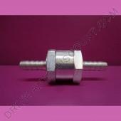 Clapet anti-retour gasoil diamètre 6 mm en aluminium